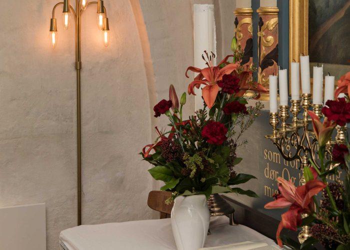 Væglampe i Refsvindinge kirke