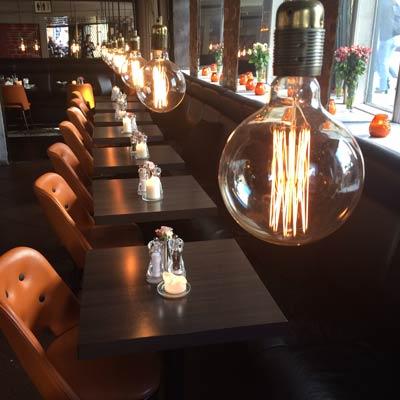Restaurant belysning
