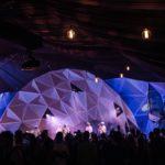 Roskilde festival telt lys